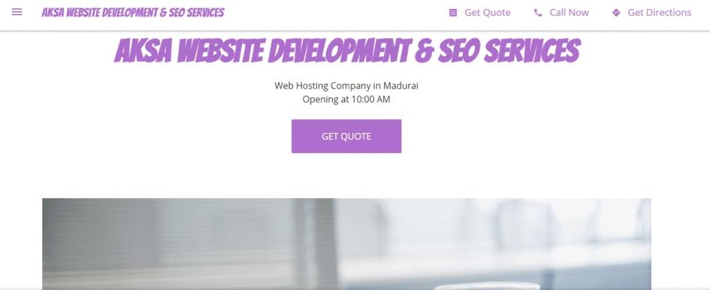 Aksa Website Development And SEO Services